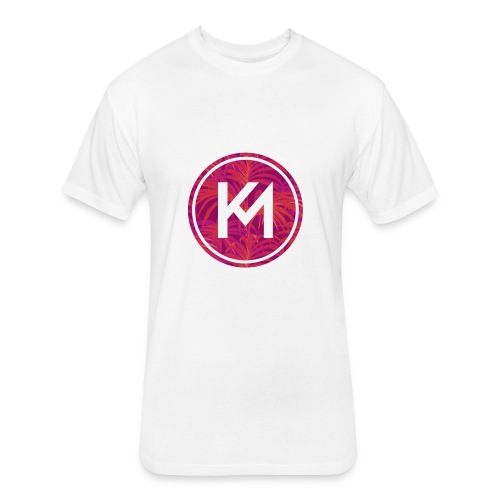 KM logo - Fitted Cotton/Poly T-Shirt by Next Level