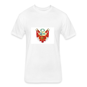 Nuevo Escudo Peruano 1 - Fitted Cotton/Poly T-Shirt by Next Level