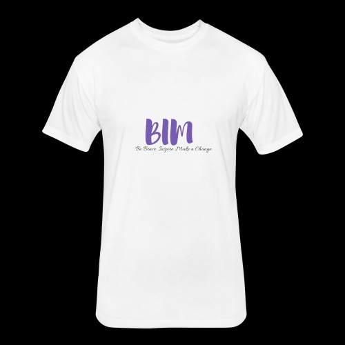 BIM White/Purple - Fitted Cotton/Poly T-Shirt by Next Level