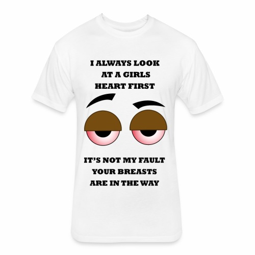 Not My Fault - Fitted Cotton/Poly T-Shirt by Next Level