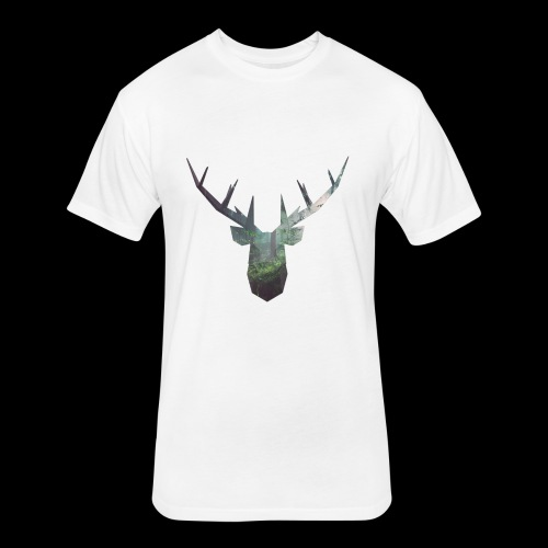Double Deer - Fitted Cotton/Poly T-Shirt by Next Level