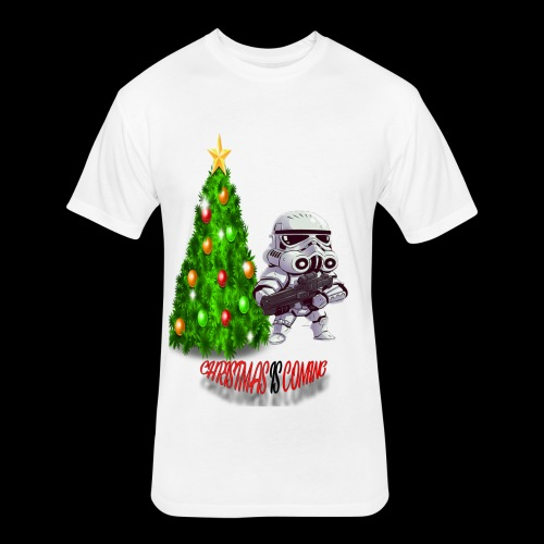 StarWars #ChristmasIsComing - Fitted Cotton/Poly T-Shirt by Next Level