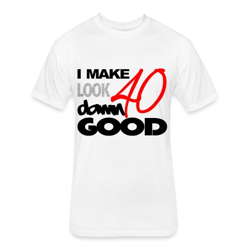 DAMN GOOD - Fitted Cotton/Poly T-Shirt by Next Level