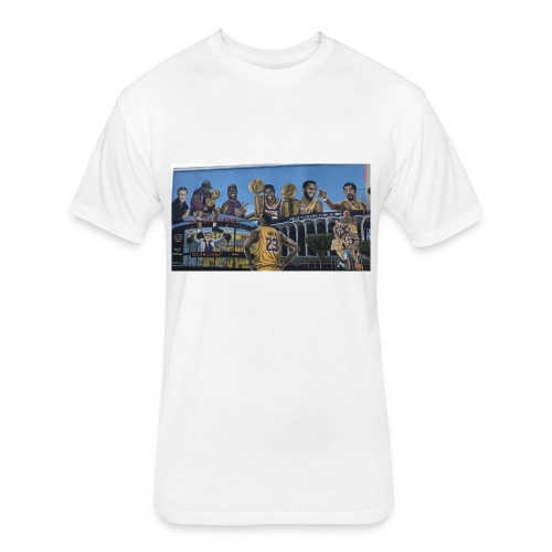 lakers lebron james - Fitted Cotton/Poly T-Shirt by Next Level