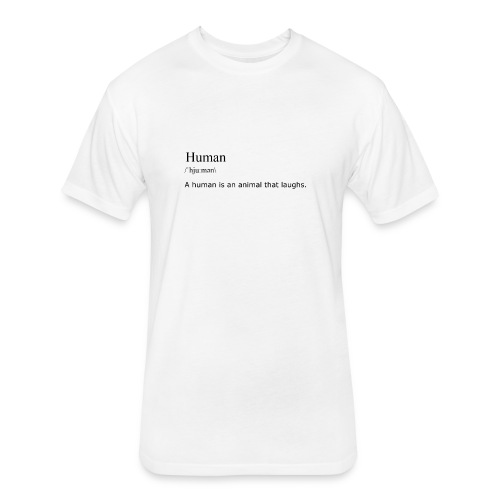 Human, By Definition - Fitted Cotton/Poly T-Shirt by Next Level
