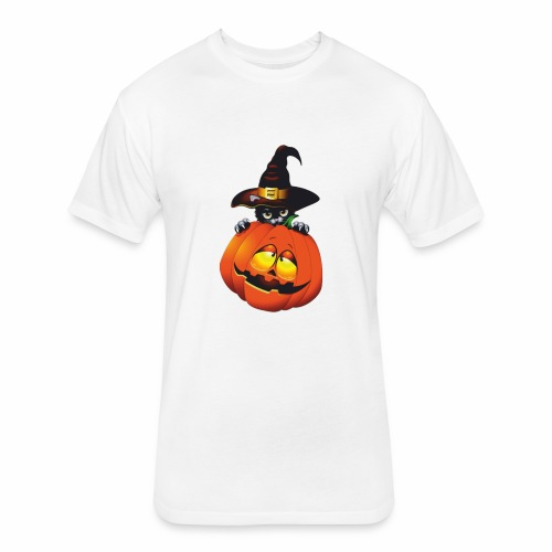 OHALLOWEEN - Fitted Cotton/Poly T-Shirt by Next Level