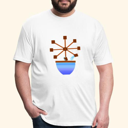 watering cycle - Fitted Cotton/Poly T-Shirt by Next Level