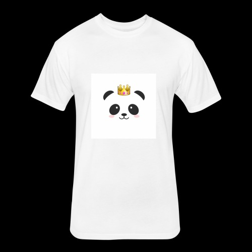 Delux panda shirts - Fitted Cotton/Poly T-Shirt by Next Level
