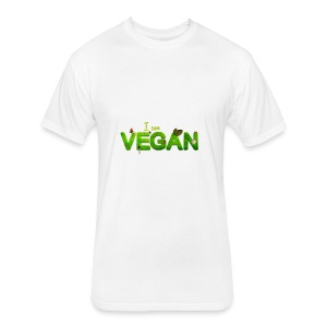 I am Vegan - Fitted Cotton/Poly T-Shirt by Next Level