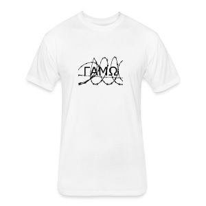 Barbed Wire box logo GAMO - Fitted Cotton/Poly T-Shirt by Next Level