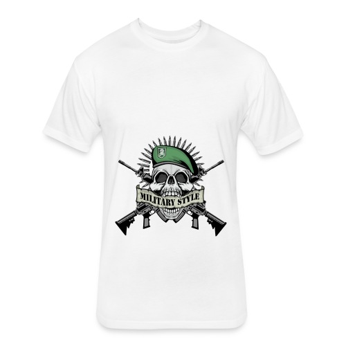 Militry Style - Fitted Cotton/Poly T-Shirt by Next Level