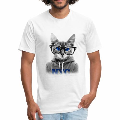 CAT TSHIRTS - Fitted Cotton/Poly T-Shirt by Next Level