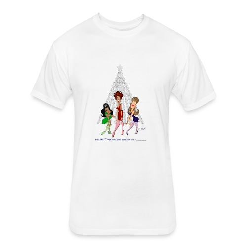 A TURKEY LURKEY CHRISTMAS TO YOU New - Fitted Cotton/Poly T-Shirt by Next Level