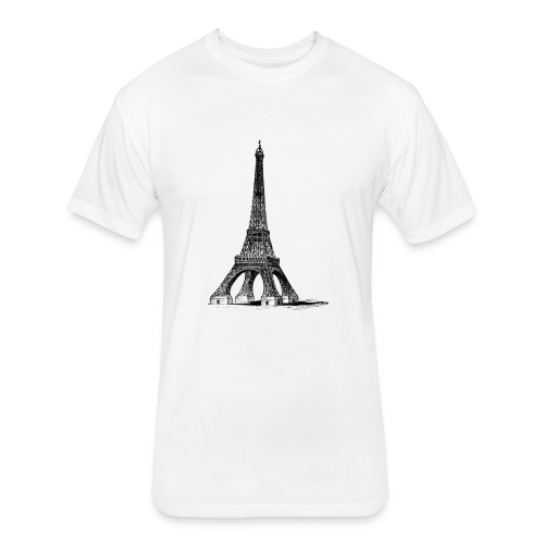Eiffel Tower t-shirt - Fitted Cotton/Poly T-Shirt by Next Level