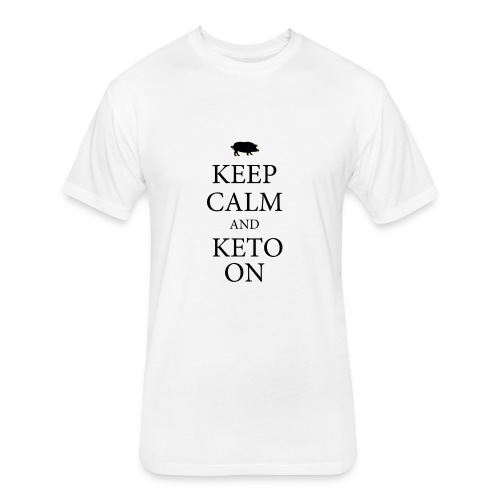 Keto keep calm2 - Fitted Cotton/Poly T-Shirt by Next Level