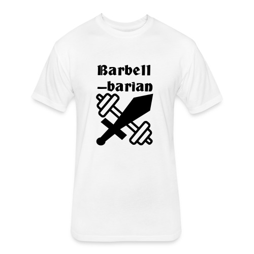 Barbell-barian - Fitted Cotton/Poly T-Shirt by Next Level