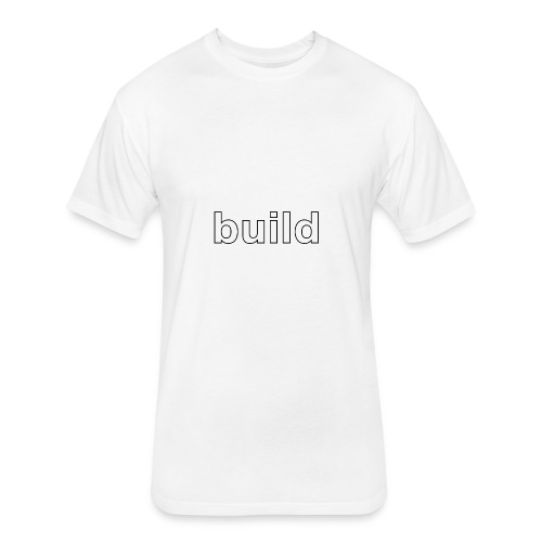 build logo - Fitted Cotton/Poly T-Shirt by Next Level