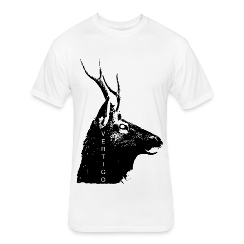Deer Vertigo - Fitted Cotton/Poly T-Shirt by Next Level