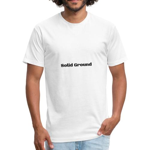 Solid Ground Print - Fitted Cotton/Poly T-Shirt by Next Level