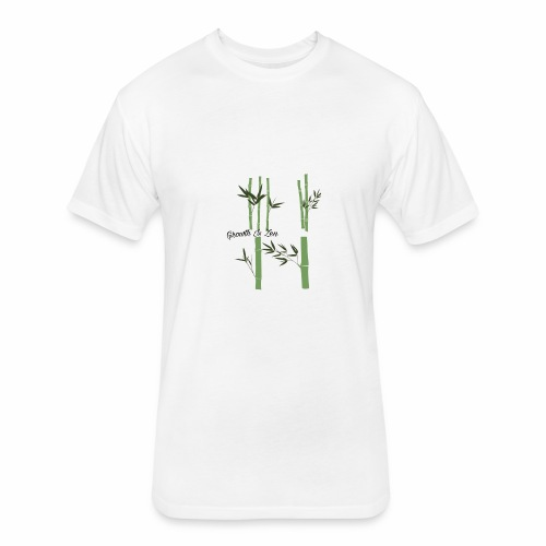 Growth Is Zen - Fitted Cotton/Poly T-Shirt by Next Level