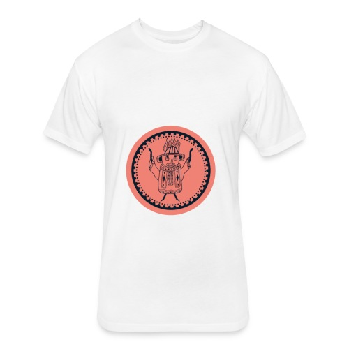 Tiki head campfire - Orange - Fitted Cotton/Poly T-Shirt by Next Level