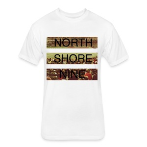 North Shore Nine Stadium Pic - Fitted Cotton/Poly T-Shirt by Next Level