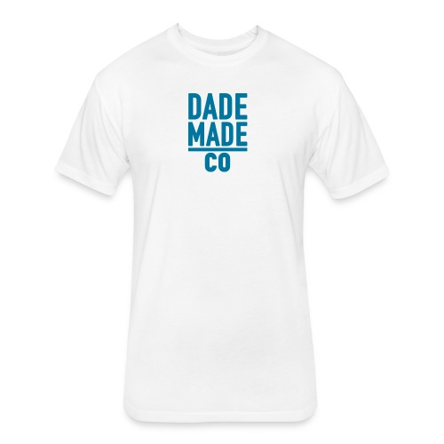 dademadelogoaqua - Fitted Cotton/Poly T-Shirt by Next Level