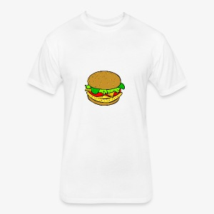 Comic Burger - Fitted Cotton/Poly T-Shirt by Next Level