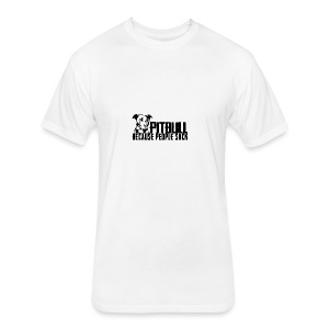 Pitbull because people suck - Fitted Cotton/Poly T-Shirt by Next Level