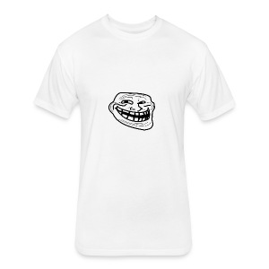 Troll Face short sleeved shirt - Fitted Cotton/Poly T-Shirt by Next Level