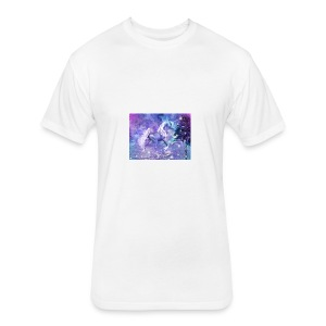 unicorn lovers - Fitted Cotton/Poly T-Shirt by Next Level