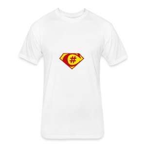 C Sharp Hero Developer - Fitted Cotton/Poly T-Shirt by Next Level