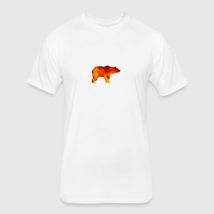 bear burning - Fitted Cotton/Poly T-Shirt by Next Level
