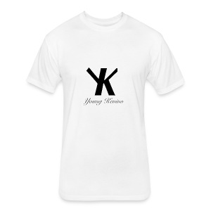 Young Kevino Official Logo (Black) - Fitted Cotton/Poly T-Shirt by Next Level