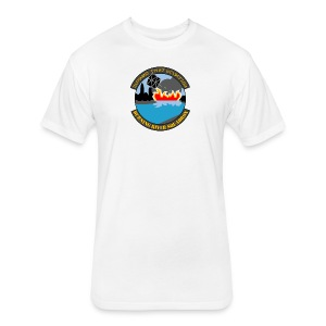Burning River Squadron - Fitted Cotton/Poly T-Shirt by Next Level