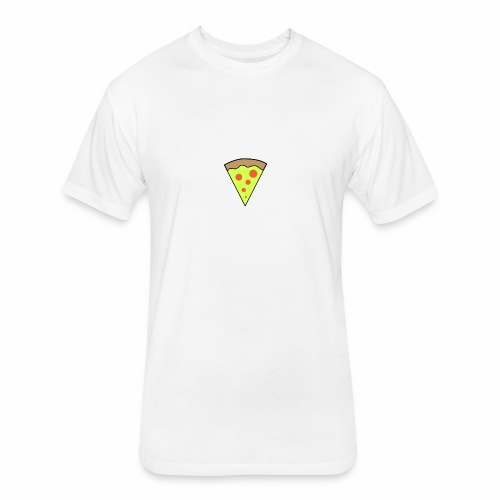 Pizza icon - Fitted Cotton/Poly T-Shirt by Next Level