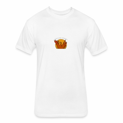 Mens Tee Phoenix Badge Rebound Official - Fitted Cotton/Poly T-Shirt by Next Level