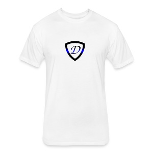 Dietz Foundation Thin Blue Line Badge - Fitted Cotton/Poly T-Shirt by Next Level