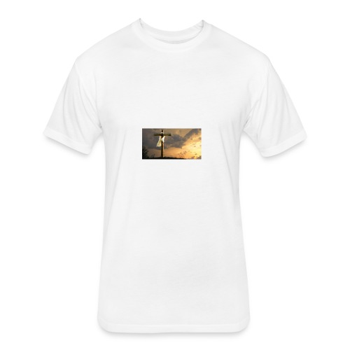On the move for christ - Fitted Cotton/Poly T-Shirt by Next Level