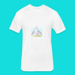 Sparkle Unicorn - Fitted Cotton/Poly T-Shirt by Next Level