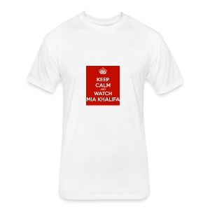 keep-calm-and-watch-mia-khalifa - Fitted Cotton/Poly T-Shirt by Next Level