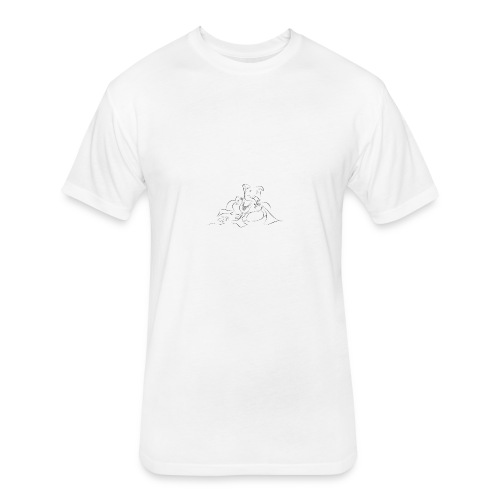 shri ganesh - Fitted Cotton/Poly T-Shirt by Next Level