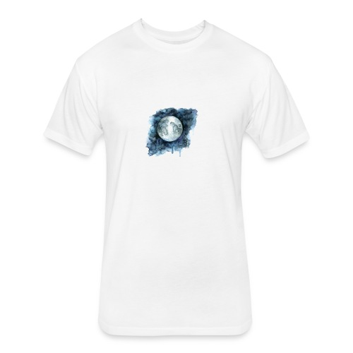 Watercolor Nights - Fitted Cotton/Poly T-Shirt by Next Level