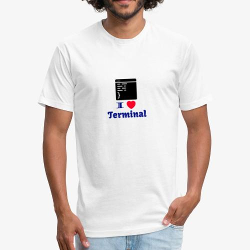 I Love Terminal - Fitted Cotton/Poly T-Shirt by Next Level