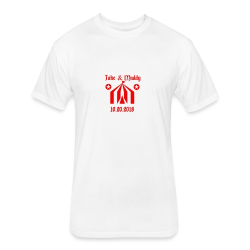 Zells Wedding Logo - Fitted Cotton/Poly T-Shirt by Next Level