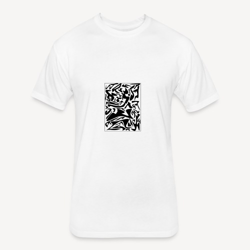 FLUID - Fitted Cotton/Poly T-Shirt by Next Level