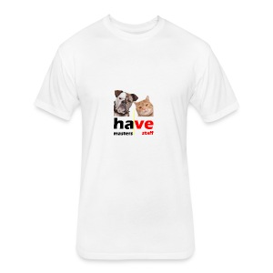 Dog & Cat - Fitted Cotton/Poly T-Shirt by Next Level