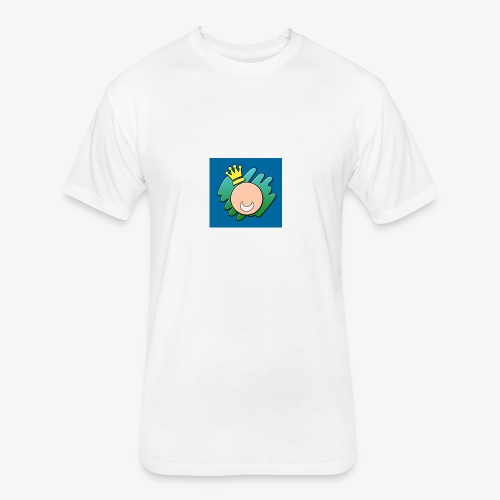 Happy King - Fitted Cotton/Poly T-Shirt by Next Level