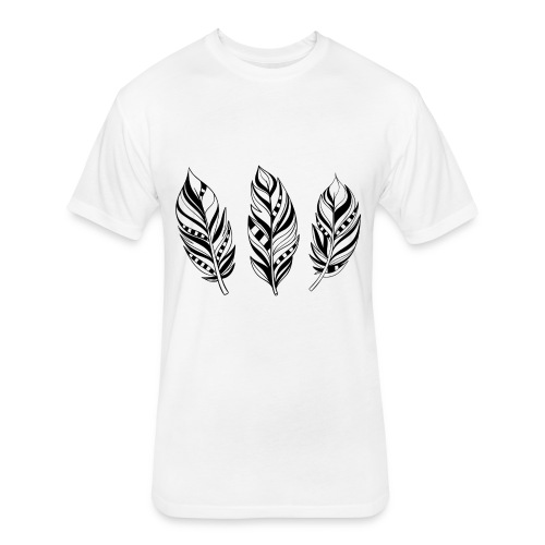 feathers T - Fitted Cotton/Poly T-Shirt by Next Level