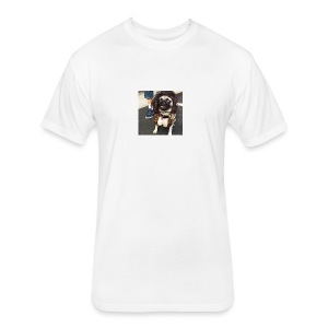 Chloe as Snooki Pug - Fitted Cotton/Poly T-Shirt by Next Level